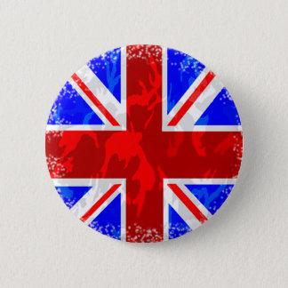 Camo Union Jack 2 Inch Round Button