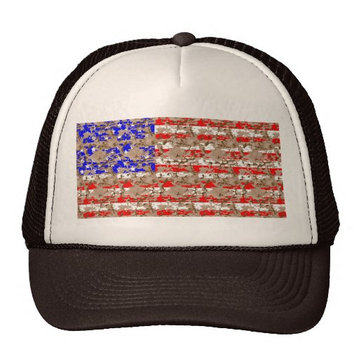 Camo US Flag Hats