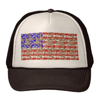 Camo US Flag Trucker Hat