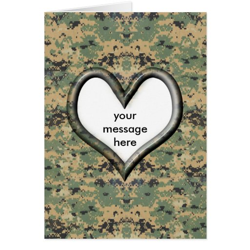 Camo Valentine Card Greeting Card
