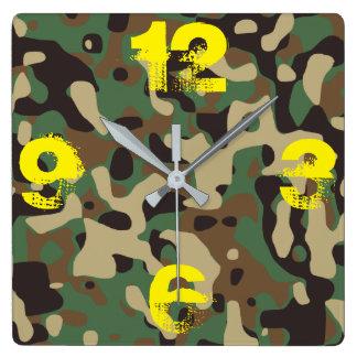 Camo Your Clock! Mega Version. Square Wall Clock