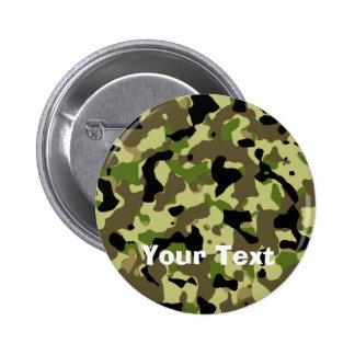 Camoflage Khaki Commando Game Badge Name Tag 2 Inch Round Button