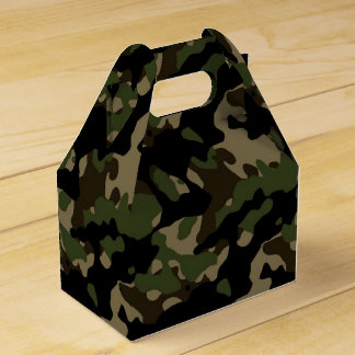 Camoflague Army Camo Birthday Party Favor Favor Box