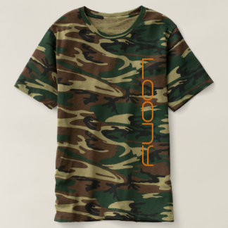 camoflauge design with loony graphic t-shirt