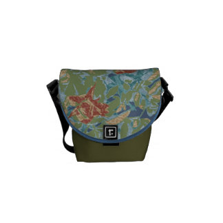 Camouflage and flowers commuter bags