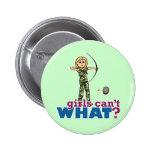 Camouflage Archery Girl - Blonde 2 Inch Round Button