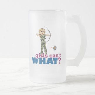Camouflage Archery Girl - Blonde Coffee Mugs