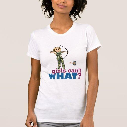 Camouflage Archery Girl - Blonde T Shirt