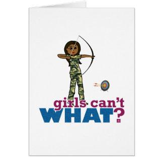 Camouflage Archery Girl - Dark Card
