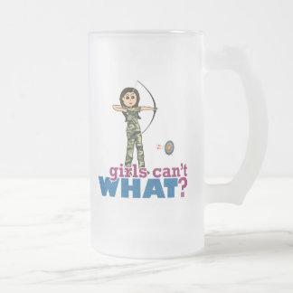 Camouflage Archery Girl - Light Coffee Mug
