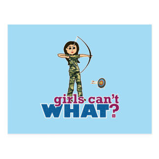 Camouflage Archery Girl - Light Post Cards