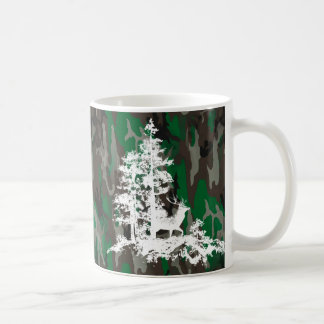 Camouflage Army Military Custom Name Deer Stag Coffee Mug