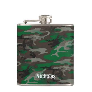 Camouflage Army Military Custom Name Hip Flask