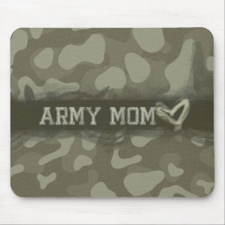 Camouflage Army Mom Heart of Love Military Mouse Pad