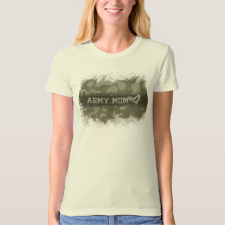 Camouflage Army Mom Heart of Love T-Shirt