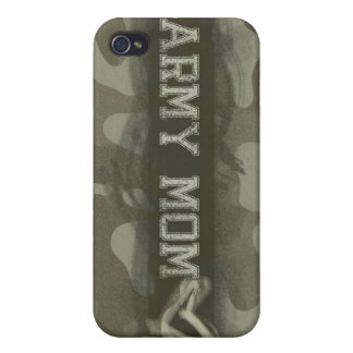 Camouflage Army Mom Loves Her Soldier iPhone 4 Cases
