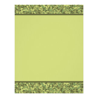 Camouflage army print scrapbook paper personalized letterhead