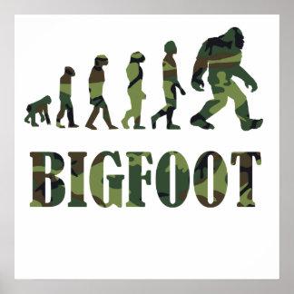 Camouflage Bigfoot Evolution Poster