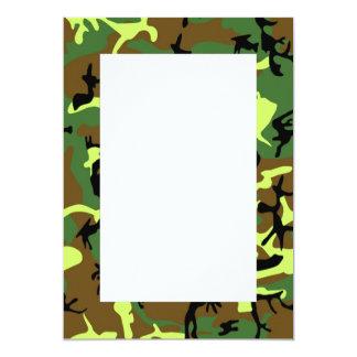 Camouflage Border Invitation
