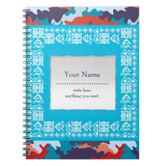 Camouflage bright pattern Personalized Note Books