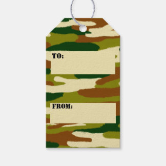Camouflage Browns and Greens Gift Tags