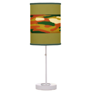 Camouflage Browns and Greens Table Lamp