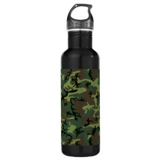 Camouflage Camo Green Brown Pattern 710 Ml Water Bottle