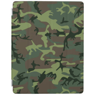 Camouflage Camo Green Brown Pattern iPad Cover