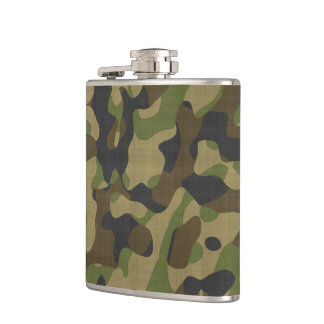 Camouflage, Camo, Military, Hunters Pattern Hip Flask