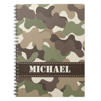 Camouflage Camo Spiral Notebook Journal