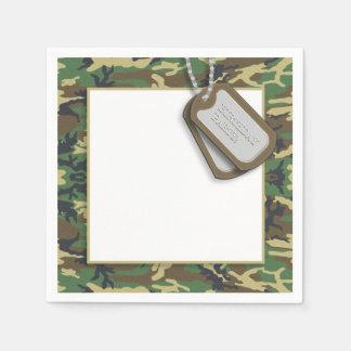 Camouflage / Camo Theme Birthday Party Paper Napkin