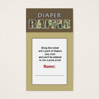 Camouflage / Camo Theme Diaper Raffle Ticket