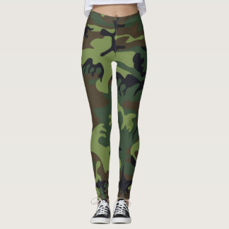 Camouflage Camos Green Black Brown Leggings