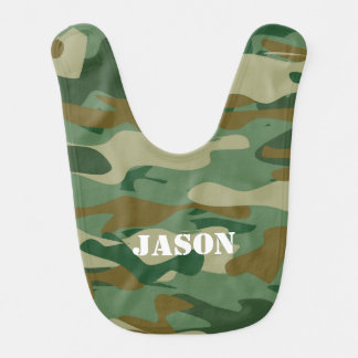 Camouflage color pattern design baby bib for kids