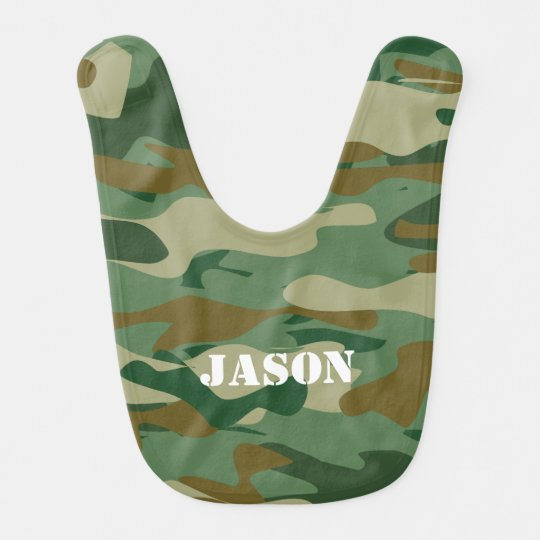 Camouflage colour pattern design baby bib for kids