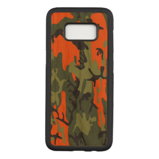 Camouflage Como Army Military Print Orange Carved Samsung Galaxy S8 Case