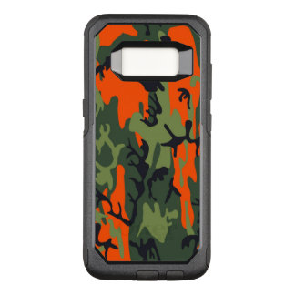 Camouflage Como Army Military Print Orange OtterBox Commuter Samsung Galaxy S8 Case