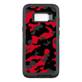 Camouflage Como Army Military Print Orange OtterBox Defender Samsung Galaxy S8+ Case