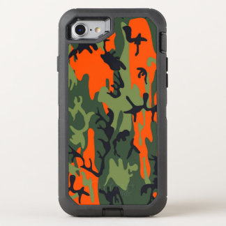 Camouflage Como Army Military Print textures OtterBox Defender iPhone 8/7 Case