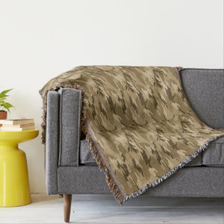 Camouflage Couch Throw