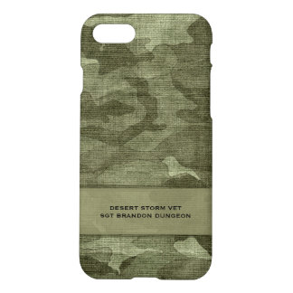 Camouflage Custom Name Military or Hunting iPhone 7 Case