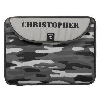 Camouflage Custom Name Sleeve For MacBooks
