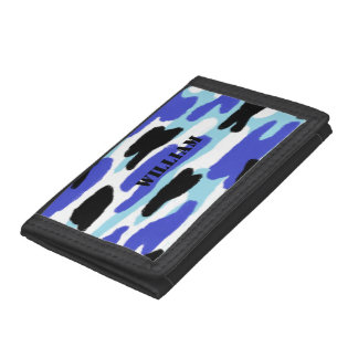Camouflage Custom Name Tri-fold Wallets