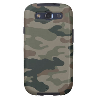Camouflage d armée en vert et militaires de Brown Étuis Samsung Galaxy S3