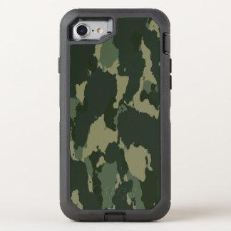 Camouflage Dark Green Gray Beige Camo Design OtterBox Defender iPhone 8/7 Case