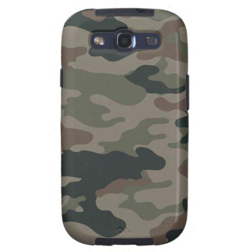 Camouflage d'armée en vert et militaires de Brown Étuis Samsung Galaxy S3