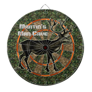 Camouflage Deer Hunter Man Cave Dartboard With Darts