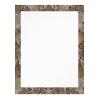 Camouflage Desert Custom Letterhead
