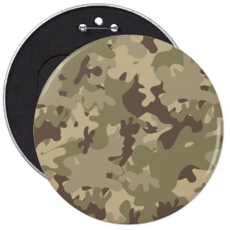 Camouflage design 6 inch round button