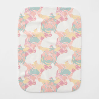 Camouflage design for kid's burp cloth